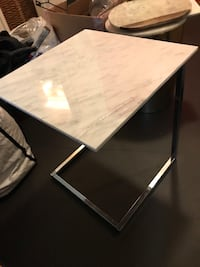 Chrome base side tables. Marble top West Hollywood, 90069