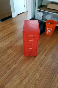 Ikea red small drawer cabinet