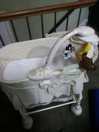 baby's white and gray cradle and swing Laurel, 20707