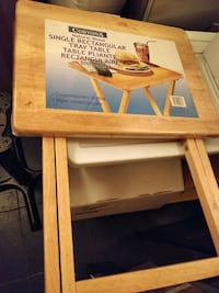 Fold up table stand