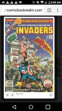 Invaders #1 king size annual Edmonton