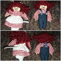 Raggedy Ann and Andy miniature figurines Oil City, 16301