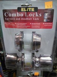 Elite combo locks--entrance and deadbolt. Canby, 97013