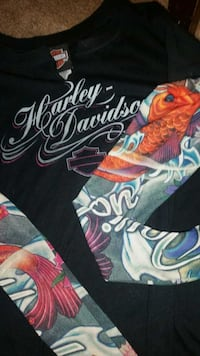 Live hard ride harder lady's harley davidson tops