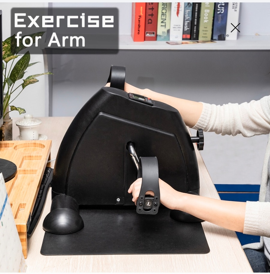 Photo Desk Hands and Feet Stationary Exercise Bike