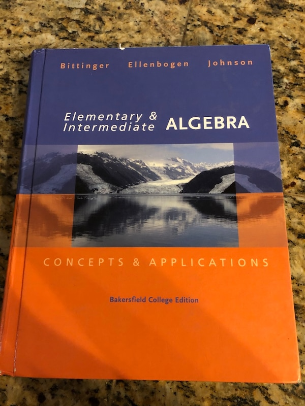 Math book for Bakersfield college