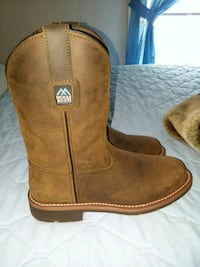 pair of brown  boots.  Never worn.  Wilson, 27893