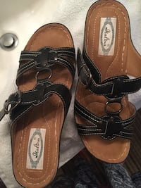 """Black Sandals Size 8-1/2 """"Italina""""Brand Shoes Bakersfield, 93301"""
