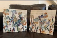 2 Canvas abstract painting