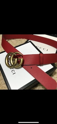 GUCCI RED LEATHER GOLD GG' New York, 11231