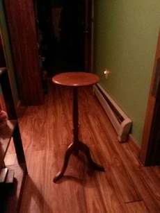 brown wooden wine table