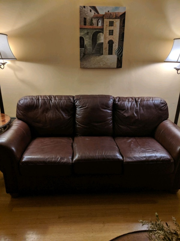 Admirable Brown Leather Couch Machost Co Dining Chair Design Ideas Machostcouk