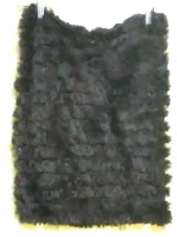 Real rabbit fur skirt