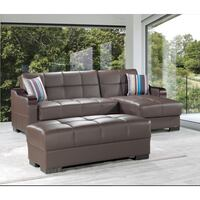 !!!NEW!!! DOWNTOWN BROWN LEATHERETTE SECTIONAL SOFA BED WITH STORAGE Clifton, 07013