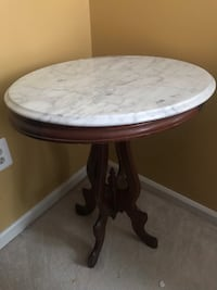 Oval Marble Top Table Herndon, 20171