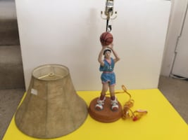 Brand new basketball player lamp and shade
