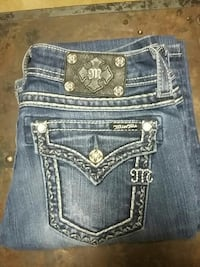 blue Miss Me denim bottoms