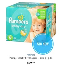 NEW Pampers diapers, sz 6 Vancouver, V5P 4M4