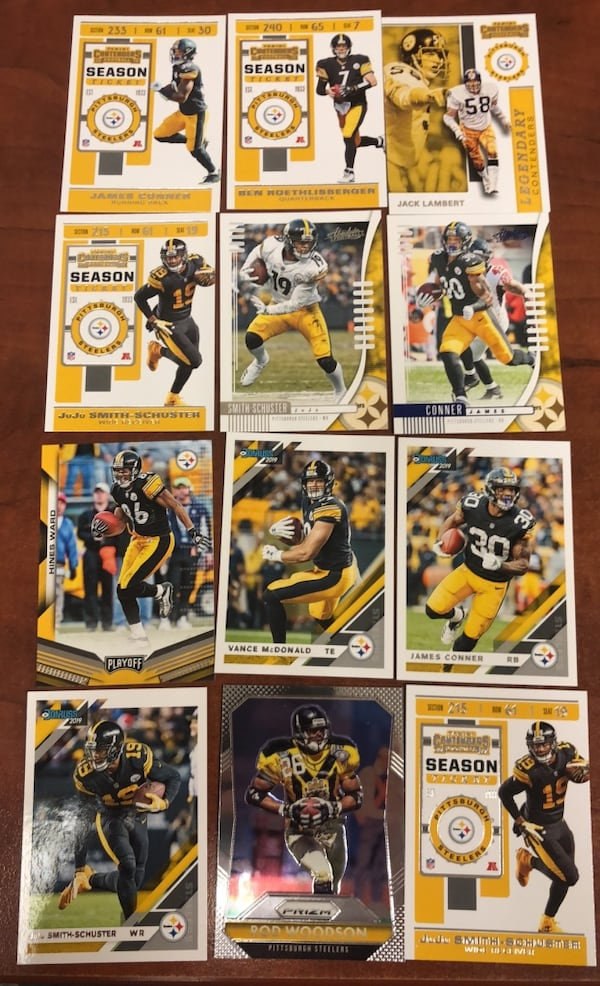Pittsburgh Steelers card lot  7acee71f-1f70-4821-abd7-4bf8eafd95ca