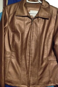 Bronze coloured faux leather coat Lethbridge, T1J 3M8