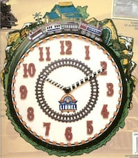Lionel Train clock with moving train and sound