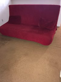 red fabric sofa with throw pillows San Diego, 92108