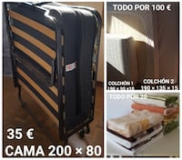 negro cama plegable collage