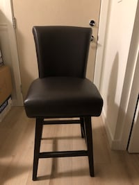 Leather swivel counter stool- two