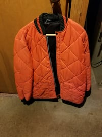 Orange quilted hunting jacket- size M West Bloomfield Township, 48324