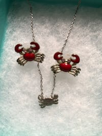 Crab necklace and crab earrings Fort George G Meade, 20755