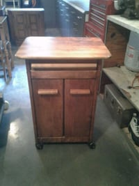 brown wooden single-drawer side table 69 km