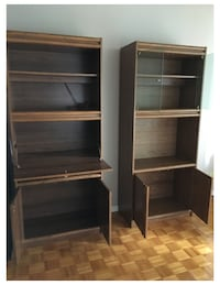brown wooden shelf with cabinet TORONTO