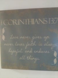 Quote from 1st Corinthians Inspirational Wall Décor
