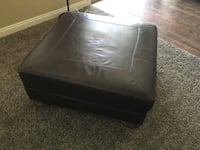 Oversized Brown Leather Ottoman Mesa, 85207