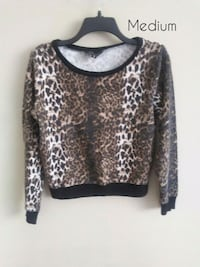 brown and black leopard print long-sleeved shirt Omaha, 68108