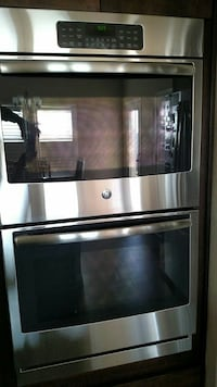 GE double wall oven and cook top