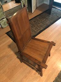 Beautiful 1920s Teak and Bamboo chair from Southeast Asia Reston, 20191