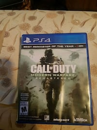 Call of duty Modern Warfare Remastered for ps4 Wasaga Beach, L9Z 2L2