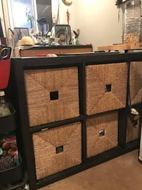 Black shelf / cubby with baskets Los Angeles, 90029