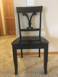 Black wooden dining  chair