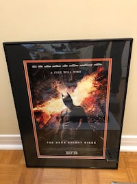 The Dark Night Rises - Black metal frame and glass Toronto