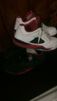 white-and-red Air Jordan 4 shoes New York, 11420