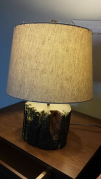 brown and white table lamp Dickerson, 20842