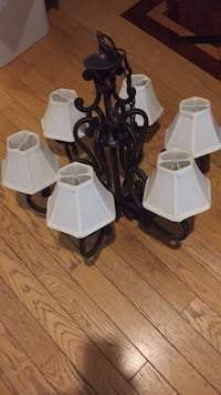 white and black uplight chandelier Newmarket, L3X 1T8