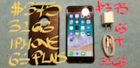 $375FIRM IPHONE 6S PLUS 32GB VeryGood Cond.+charg Pointe-Claire, H9R 3A3