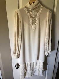 Vintage wedding dress--long-sleeved/embroidered (sz small) FORTSASKATCHEWAN