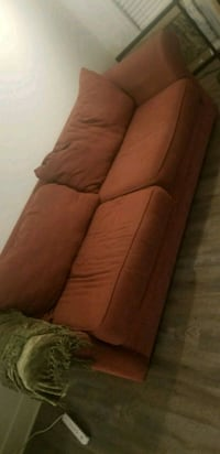 brown fabric 3-seat sofa 46 km