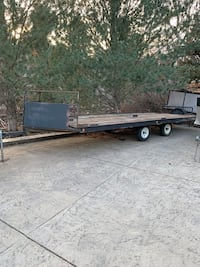 20ft 4 place tilt snowmobile trailer