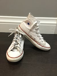 Used Girl's youth White High top Converse