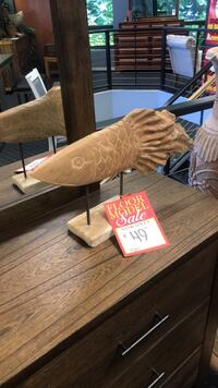 Solid Wood Fish Carving